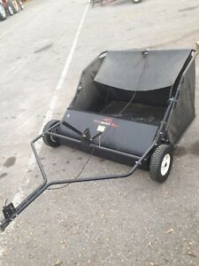"Brinly 42"" leaf / Grass clippings bagger"