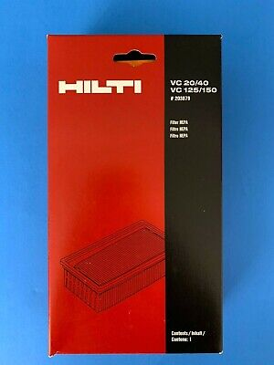 - HILTI HEPA Wet/Dry Filter VC 20/40 for VC 125/150  #203879 New in box. FREE S&H