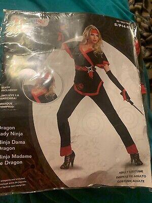 Disguise Dragon Lady Ninja Costume Size Small 4-6 (New)