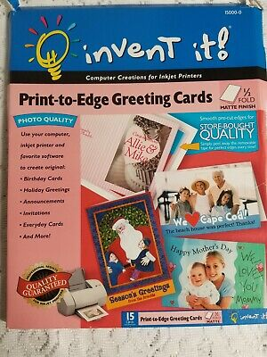 Invent It - Print-to-edge 10 Greeting Cards Envelopes For Inkjet Printers