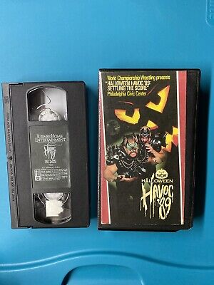 WCW NWA Halloween Havoc 1989 VHS Ric Flair Sting