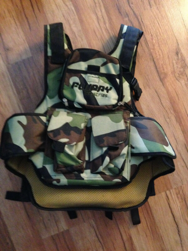 Flurry Industries Woodland Camo Tactical Paintball Vest