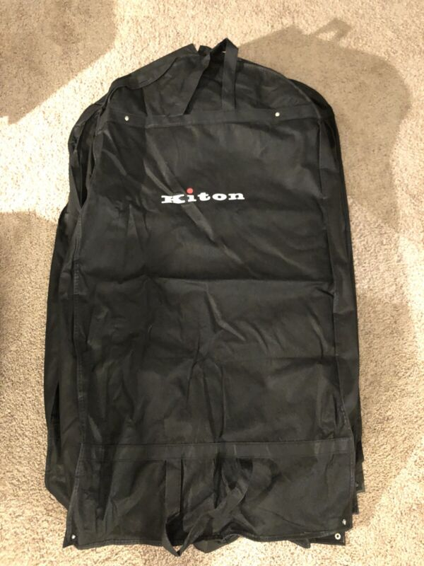 (1) Authentic Kiton Black Traveling Garment Bag - Five Available! See Others!