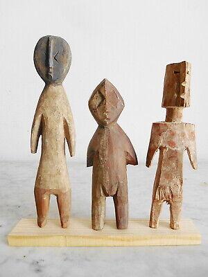 Set of 3 Statuettes Aklama Adan Ade Ada Ewe Art Tribale African