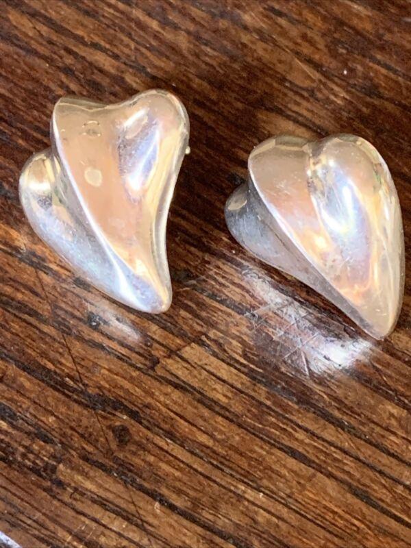 Classic Vtg 80s Angela Cummings Sterling Designer Earrings