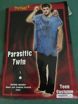 Parasitic Twin Two Piece Costume - Blue/Black -Teen Young Men (Size 20 - 22) - Teen Twin Costumes