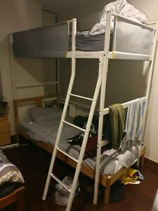 New IKEA VITVAL loft bed frame white need to remove urgently.