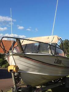 Stacer 525 aluminium fishing boat Bonnells Bay Lake Macquarie Area Preview