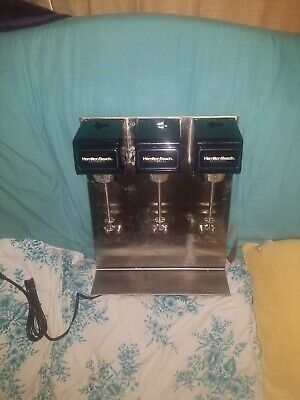 Hamilton Beach Model 950 Triple Head 3 Speed Commercial Milk Shake Mixer Blender