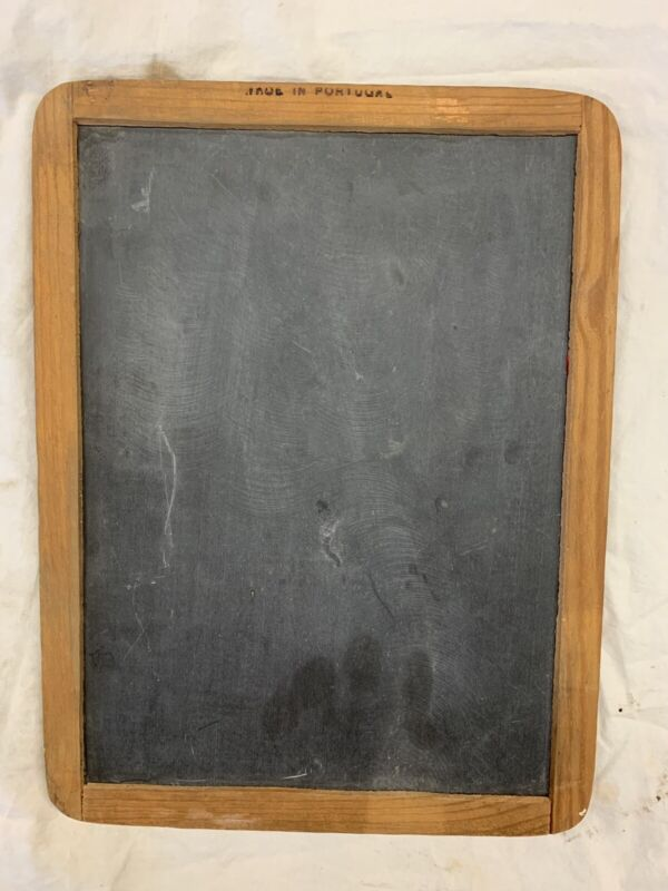 Vintage Double Sided School Slate Chalkboard Made in Portugal