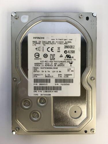 """HITACHI 2TB 7.2K 3.5"""" SAS HUS723020ALS640 *520 FORMAT"""