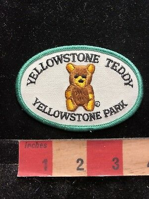 Vtg Bear Theme YELLOWSTONE NATIONAL PARK TEDDY Wyoming Patch C83M