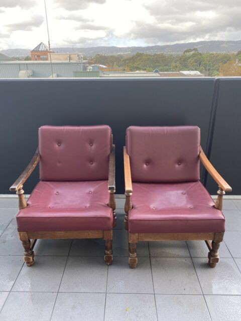 Vintage Leather Lounge Chairs | Armchairs | Gumtree ...