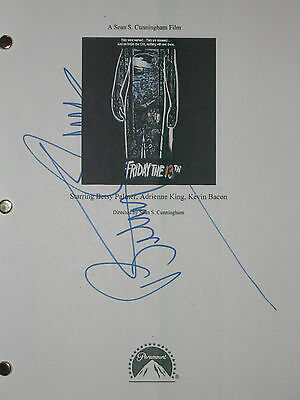 Friday the 13th Signed Movie Film Script Betsy Palmer reprint One of best Horror