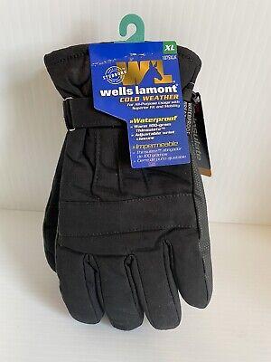 Wells Lamont Cold Weather Gloves Waterproof 100 Gram Thinsulate 1075xlk Size- Xl