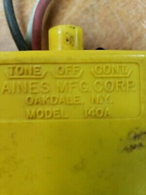 Aines Mfg. Corp Tonecontinuity Cable Tester Model 140a Fc12-3-k