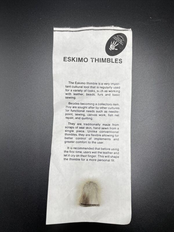Eskimo Seal Skin Thimble