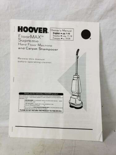 Hoover FloorMax Supreme Hard Floor Machine and Carpet Shampo