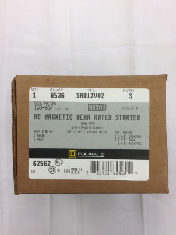 Square D 8536SA012V02S Magnetic Motor Starter