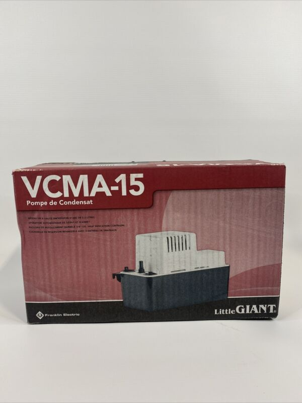 NEW - Little Giant VCMA-15ULS Series 1/50 HP Condensate Extraction Pump