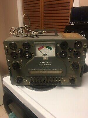 Vintage Heathkit Model Tc-3 Tube Checker Tester Lights Up Works