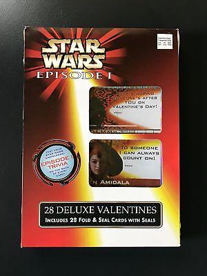 Star Wars Valentine Box (Star Wars Episode 1 Valentine Cards, 1999 Sealed Box of 28 Deluxe)