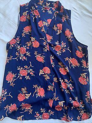 VINCE CAMUTO Floral Blouse Shirt Top Large L