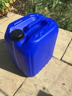 20 X 20L ANTI-GLUG ECO-VENT NEW PLASTIC JERRY CAN CONTAINER BLUE HEAVY DUTY