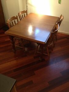 Hardwood dining table and 7 chairs Montmorency Banyule Area Preview