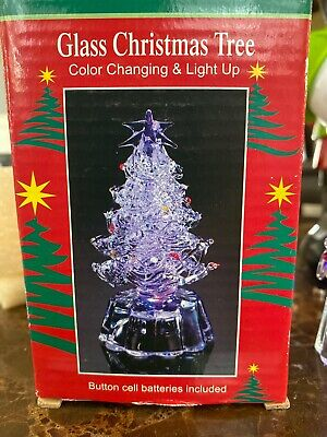"Mini 3¾"" LED Color Changing Light Winter CHRISTMAS Tree."