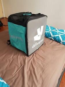 Deliveroo delivering Bag