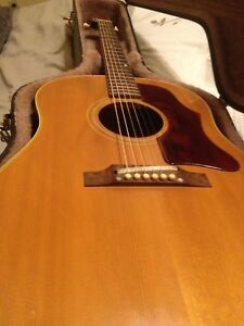 1967 Gibson J50 guitar with pickup and case