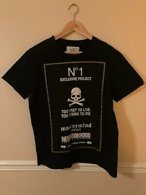 RARE 2012 Neighborhood x Mastermind Japan Special Project No. 1 T-shirt Sz Large