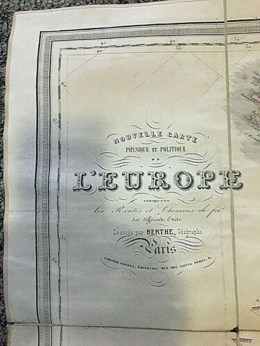19TH CENTURY MAP OF EUROPE