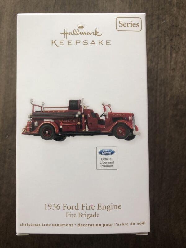 HALLMARK 1936 FORD FIRE ENGINE ORNAMENT 2012 New in Box #10 Fire Brigade Series