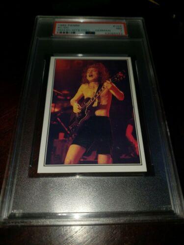1985 Panini Smash Hits AC/DC Angus Young #103-Psa 7 Nmt-Awesome!