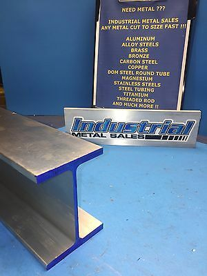 6061 T6 Aluminum I Beam 4 X .170 X 3 X 48-long