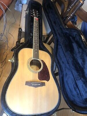 Ibanez PF PC25WC NT-3U-01 Acoustic Guitar With Hard Case NMINT Dreadnought Body