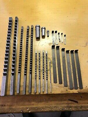Lot Of 10x Keyway Broaches 3x Bushings And 11x Shims Dumont Metric