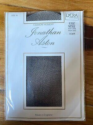 Jonathan Aston Fashion Hosiery Micronet Pantyhose Style 2443 Black Size B