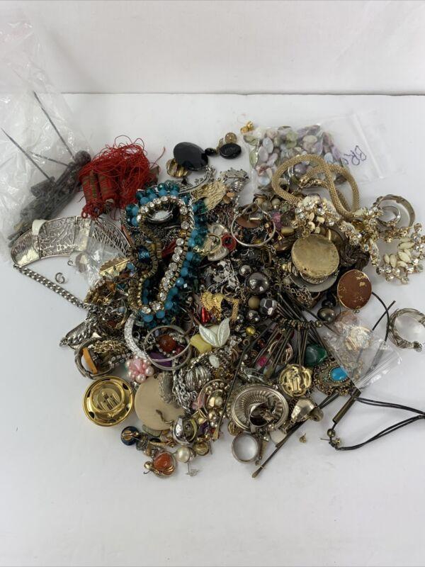 Jewelry Craft Junk over 3 Pounds Rhinestones Beads Metal
