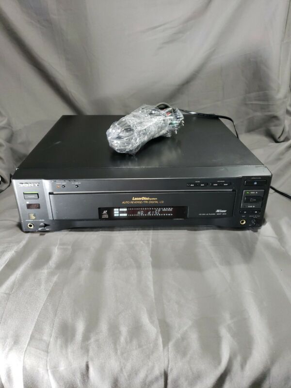 Black Sony MDP-600 LaserDisc Video CD Player works great