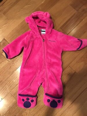 New Nwt  Columbia Baby Tiny Bear 3 6 Months Bunting