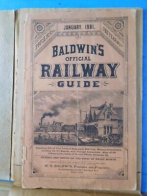 Baldwin's Official Railway Guide 1881 January