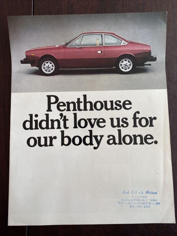 Lancia Beta Couple Brochure Original