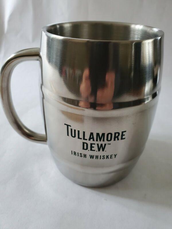 Tullamore D.E.W. Irish Whiskey Stainless Steel Metal Mug Cup