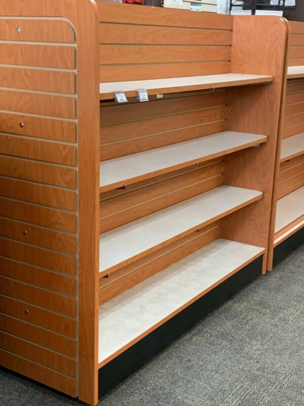 "60""L x 24""D X 54"" Add-On Wooden Gondola Shelving w/ Base Shelf - H Unit Cabinets"