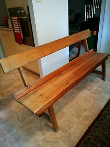 Lovely solid timber bench Rothwell Redcliffe Area Preview