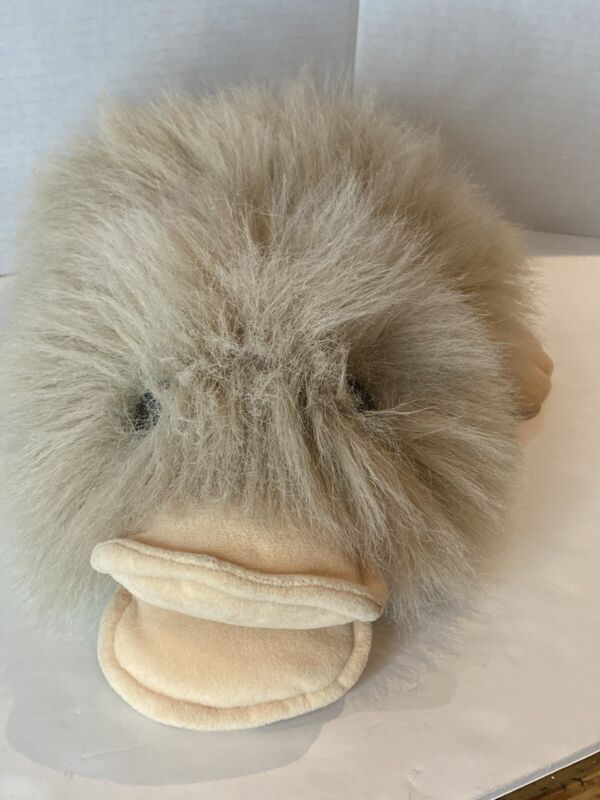 Vintage Platypus Plush Puppet Brown And White