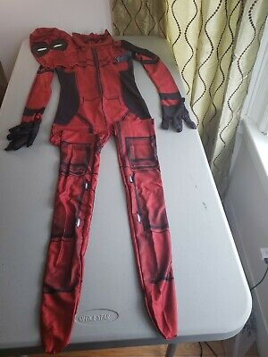 Kid Deadpool Cosplay Costume Spandex Lycra Halloween Party Bodysuit Large